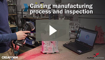 Aerospace casting manufacturing process and inspection
