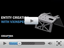 Entity creation with VXinspect