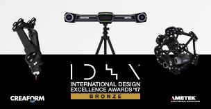 Creaform wins bronze at Industrial Design Excellence Award 2017 by the Industrial Design Society of AmericaCreaform 斩获久负盛名的 2017 IDEA 大奖